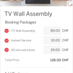 Overview of the booking packages